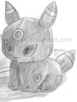 Umbreon Plushie by Xuriyah