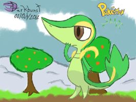 Snivy on Colors! by TheDarkCore