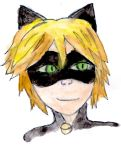 Chat noir painting(yt link) by Fran48