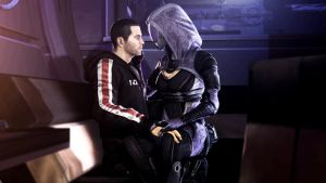 Shepard and Tali by Gomios13