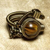 Steampunk Ring citrine by CatherinetteRings