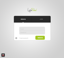 Minimal Login Panel concept by lpzdesign