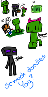Silly Minecraft Doodles by TheChaoticMistress