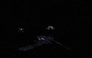 The Jaridix and her Federation Escorts by tj-hawk