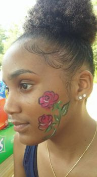 rose face paint by funfacesballoon