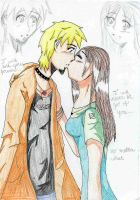 Kenny and Kat's kiss by kellycosmonaut