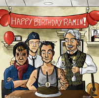 HAPPY BIRTHDAY,  RAMIN KARIMLOO! by pepe-chaan
