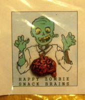 Happy Zombie Snack Brains by NycterisA