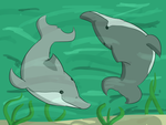 A Circle of Dolphins by Megatraven