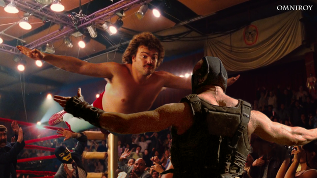 Nacho Libre vs Bane by OmniRoy