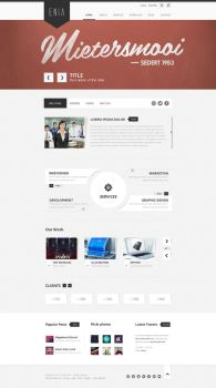 Enia - Professional PSD template by blottah