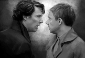 Johnlock wip by aizercul