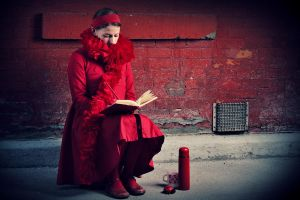 Liddle Red Writing Hood by shayne-gray