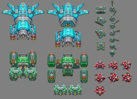 Overdrive Enemy Sprites - Stage 1 by Pieterator