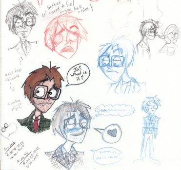 Edwin Sketches by RagdollCorpse
