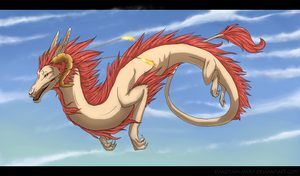 Flying dragon by DakotaW-Wolf