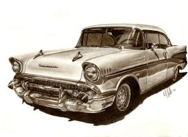57 Chevy Bel Air by tin23uk