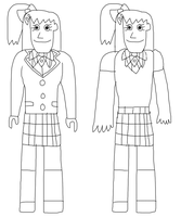 Yuho Hikosawa in her School Uniforms by jacobyel