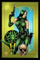 Madame Hydra pin up by Javilaparra