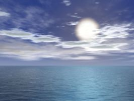 Premade Background - Ocean by rocamia-stock
