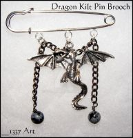 Dragon Kilt Pin Brooch by 1337-Art