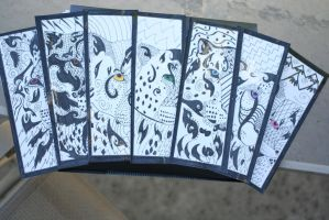 Tribal Big Cat Bookmarks by Hyena27