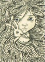 ACEO - Hair and Hare by KootiesMom