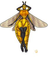 24 hour stream- upgrade- Bee Woman by Lilly-moo