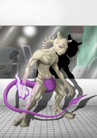 Mewtwo WIP 02 by Crackdtoothgrin