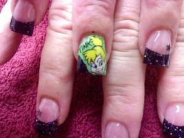 Tinkerbell - Nail Art by DignifiedDoll