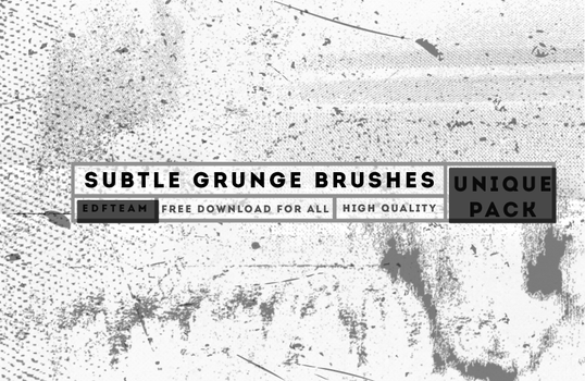 Subtle Grunge Brushes by EDFTeam