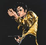 Michael Jackson in Dangerous Tour by darkdamage
