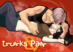 Trunks y Pan by RinoaGS