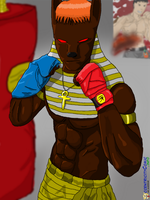 Anubis - MMA Fighter by RecycledSushi