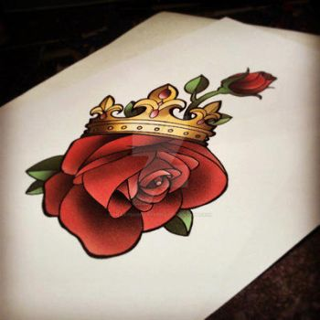 Rose n Crown Pretty Grotesque by heartsandanchors