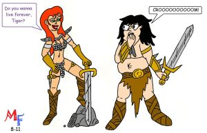 Fanboy and MJ see Conan by MarkFanboy