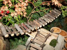Multi Use Handmade Miniature Wooden Fence by PymatuningCrafts