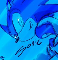 Sonic speed by idolnya