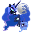 Three Luna Moon by sirhcx