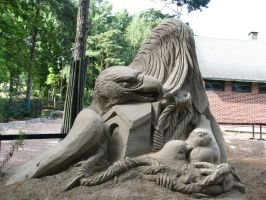 Sand sculpture by Elegia-stock