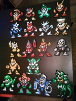 Megaman Robot Master Set by DuctileCreations