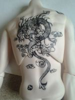 BJD  dragon tattoo for Kira by Roxellana