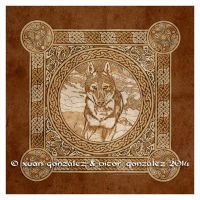 The Celtic Wolf by twistedstrokes