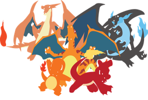 Charizard (X Y) Charmeleon and Charmander by Andie200