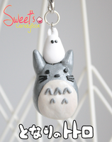 Polymer Clay: Totoro and Chibi Totoro by LittleSweet