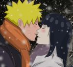 Naruto and Hinata Winter by Lesya7