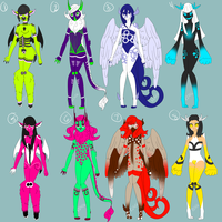 Set of 8 Adopts - CLOSED - by Rd4066