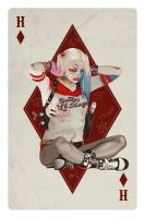 Harley Quinn Playing Card by i-am-reeves