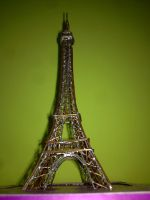 Eiffel Tower Modeled in copper by brmithun