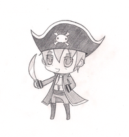 Chibi England Pirate Sketch by DarkStarGirl77